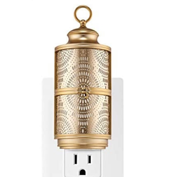 Gold lantern night light wall flower scent plug in